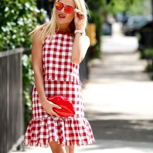 LAST ONE!! Red Gingham shirt and skirt set